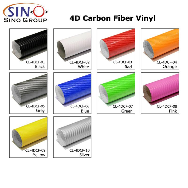 CARLIKE CL-4DCF супер глянцевая 4D виниловая пленка из углеродного волокна