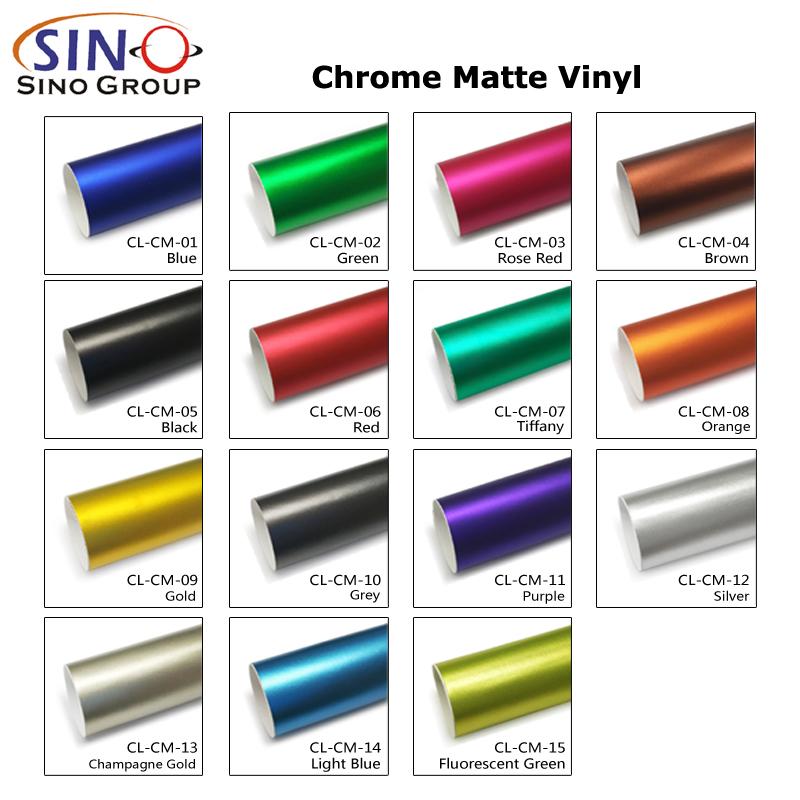 CL-CM Матовый хромированный виниловый чехол для кузова