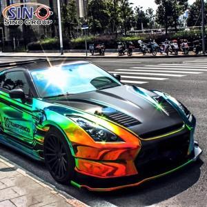 CL-CR Хромовая радуга Голографическая автомобильная автомобильная виниловая наклейка