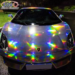 CL-LS Лазерный хром голографический винил радуги для автомобиля всего тела