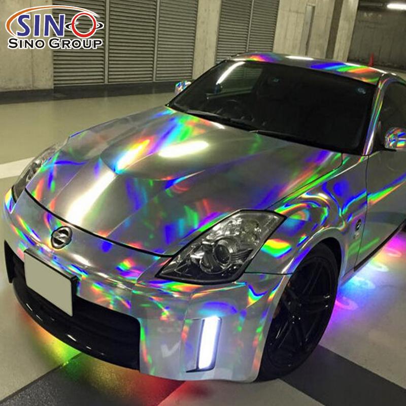 CARLIKE CL-LS Лазерный хром голографический винил радуги для автомобиля всего тела